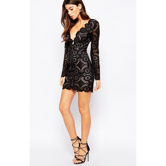 d91ff92d764 ASOS Love Triangle Lace Dress